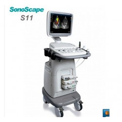 Sonoscape S11 With 3probes: 4D, Transvaginal and convex probe. Additional probe costs extra 200k