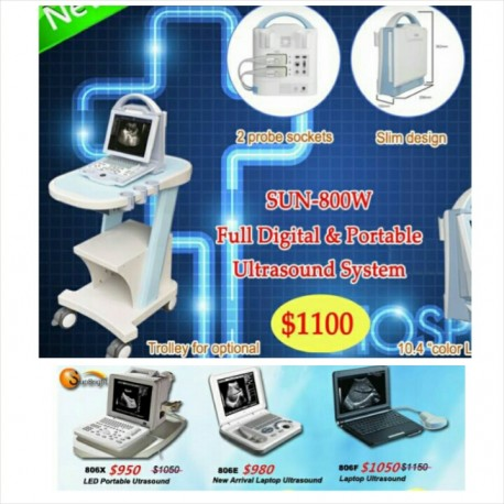 Portable and full digital ultrasound machine